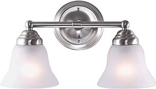 7Pandas Artistic Modern Wall Lamp with Flush Mount ,Design Modern Home Light Fixture-2 Lights in Frosted Glass