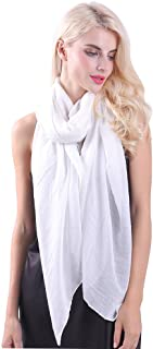 MissShorthair Womens Solid Color Large Sheer Wrap Shawl