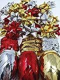YLAB - Set de Papel de Regalo con Lazo y Cinta para Navidad