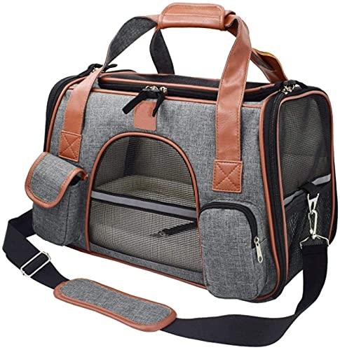 WWQQ Mochila portátil para mascotas, para viajes, para coche, para mascotas, mochila transpirable y transpirable, para perros pequeños