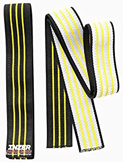 Inzer Atomic Knee Wraps (Pair) - Powerlifting Weightlifting Crossfit Strength Training (Yellow, 2.5m)