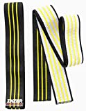 Inzer Atomic Knee Wraps (Pair) - Powerlifting Weightlifting Strength Training (Yellow, 3.0m)