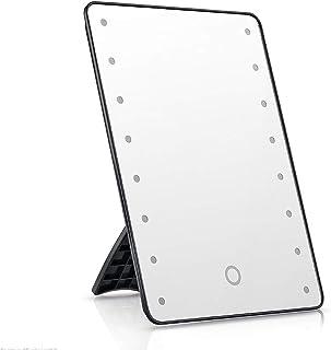 XZPENG Vanity Mirror Lights,LED Lighted Desktop Portable Folding Flat Adjustable Makeup Mirror for Travel Parties Work (Color : Pink)