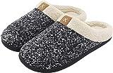 ULTRAIDEAS Men's Comfort Memory Foam Slippers Wool-Like Plush Fleece Lined Indoor & Outdoor House...