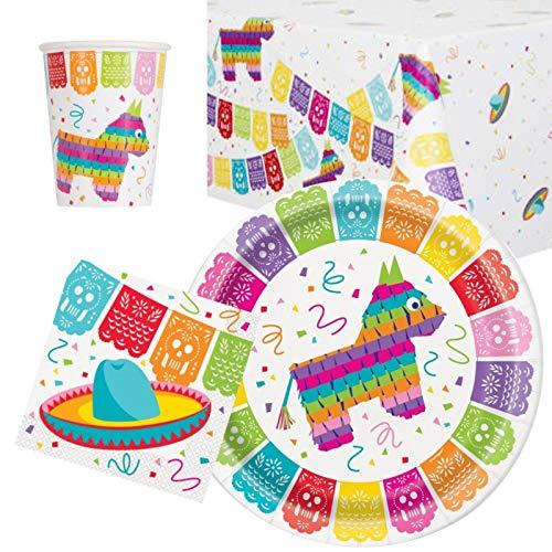 Vajilla de fiesta mexicana para 8 unidades