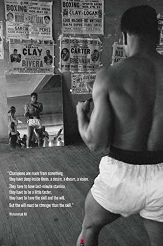 MUHAMMAD ALI Champions Quote Motivational Boxing Cool Wall Decor Art Print Poster 24x36 inch product image