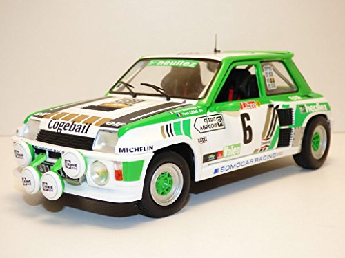 solido S1801303 1:18 Renault R5 Turbo-1985 Group B Rally #6