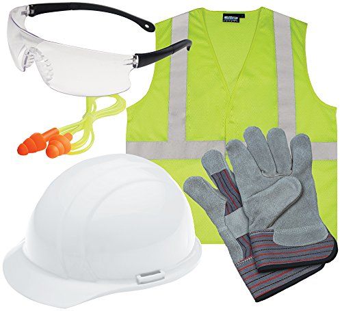 ERB 16531 Liberty L3 New Hire Kit with Clear Glasses and S362 Vest, Large