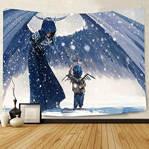 JXWR Anime Tapiz Kimono Disfraz Monstruo sacerdotisa montado en la Pared decoración de la Sala 203x152