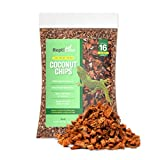 ReptiCasa Organic Coconut Chips Substrate Clean & Ready to Use for Reptiles, Snakes, Tortoise, and Amphibians, Natural Fiber Free Husks, Clean Breeding and Bedding Flooring, Odor Absorbing - 16 Quarts