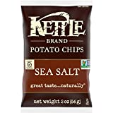 Kettle Brand Potato Chips, Sea Salt, 2 Ounce, 6 Count Caddy