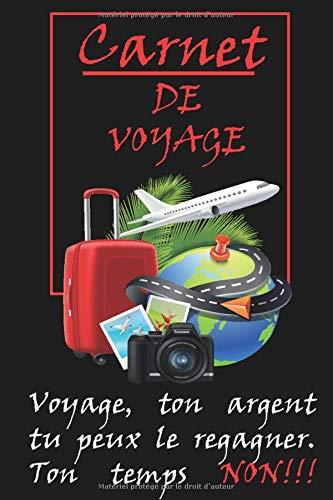 Mon carnet de voyage : Contenant 160 pages , des lignés pour décrire les endroits visités et des blanches pour coller vos photos souvenirs. Journal de ... à emmener partout avec vous. Le cadeau idéal