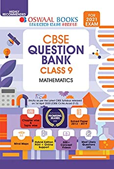 Oswaal CBSE Question Bank Mathematics, Class 9 (For 2021 Exam) by [Oswaal Editorial Board]