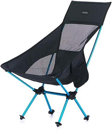 Klapphocker Tragbarer Klappstuhl-Rückenlehnen-Stuhl im Freien Camping Strand Skizze Aluminiumlegierung Aluminiumlegierung Aluminiumlegierung 80 × 35 × 41 cm GW (Farbe   SCHWARZ) B07P9HD626   New Listing  b16581