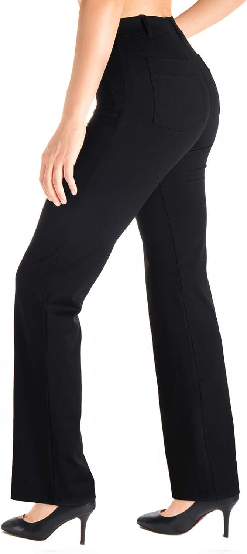 5 ☆ popular Yogipace Belt Loops Women's Petite Tall Bootcut Outstanding Dress Yo Regular