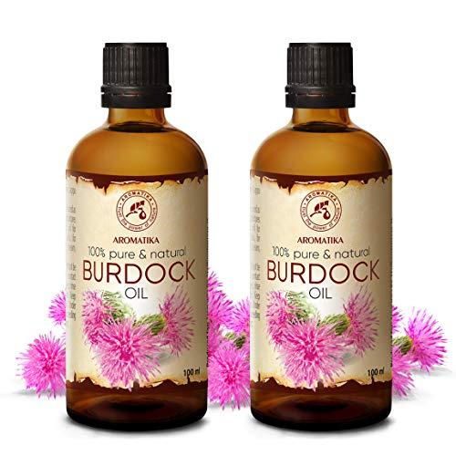 Aceite de Bardana 200ml - 2x100ml - Arctium Lappa Root Extract - 100% Puro y Natural - Mejor Aceite para el Cabello - Grandes Beneficios para la Piel - Cabello - Cuidado Corporal