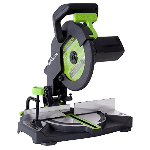 Evolution Power Tools F210CMS Multi-Purpose Compound Mitre Saw Cuts Wood, Metal and Plastic, 1200 W, 210 mm, (230V)