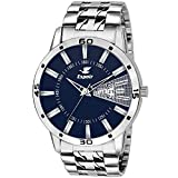 Espoir Analogue Stainless Steel Day and Date Blue Dial Men's Watch- Latest0507
