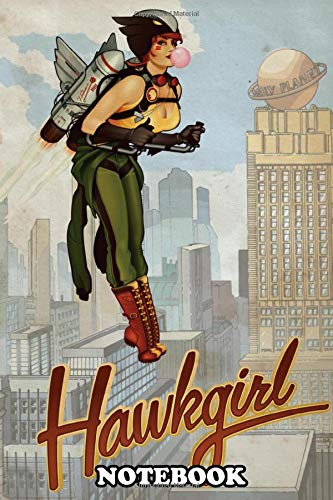 Notebook: Hawkgirl , Journal for Writing, College Ruled Size 6' x 9', 110 Pages