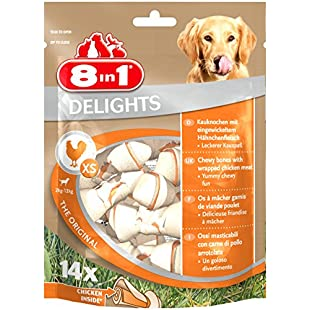 8in1Delights of Cowhide Chicken Premium Meat Chicken Wrapped Chews (Healthy Bones For Dogs