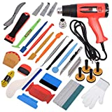 Gomake Vinyl Wrap Tool Kit Window Tint Kits for Car Wrapping Installation, Include Heat Gun, Vinyl Squeegee,Micro Wrap Stick Squeegee, Film Cutter, Magnet Holder, Plastic Scraper