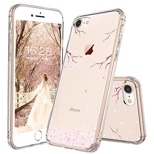 competitive price 821ab 0f86a Amazon.com: iPhone 8 Case, iPhone 7 Case, MOSNOVO Cherry Blossom ...