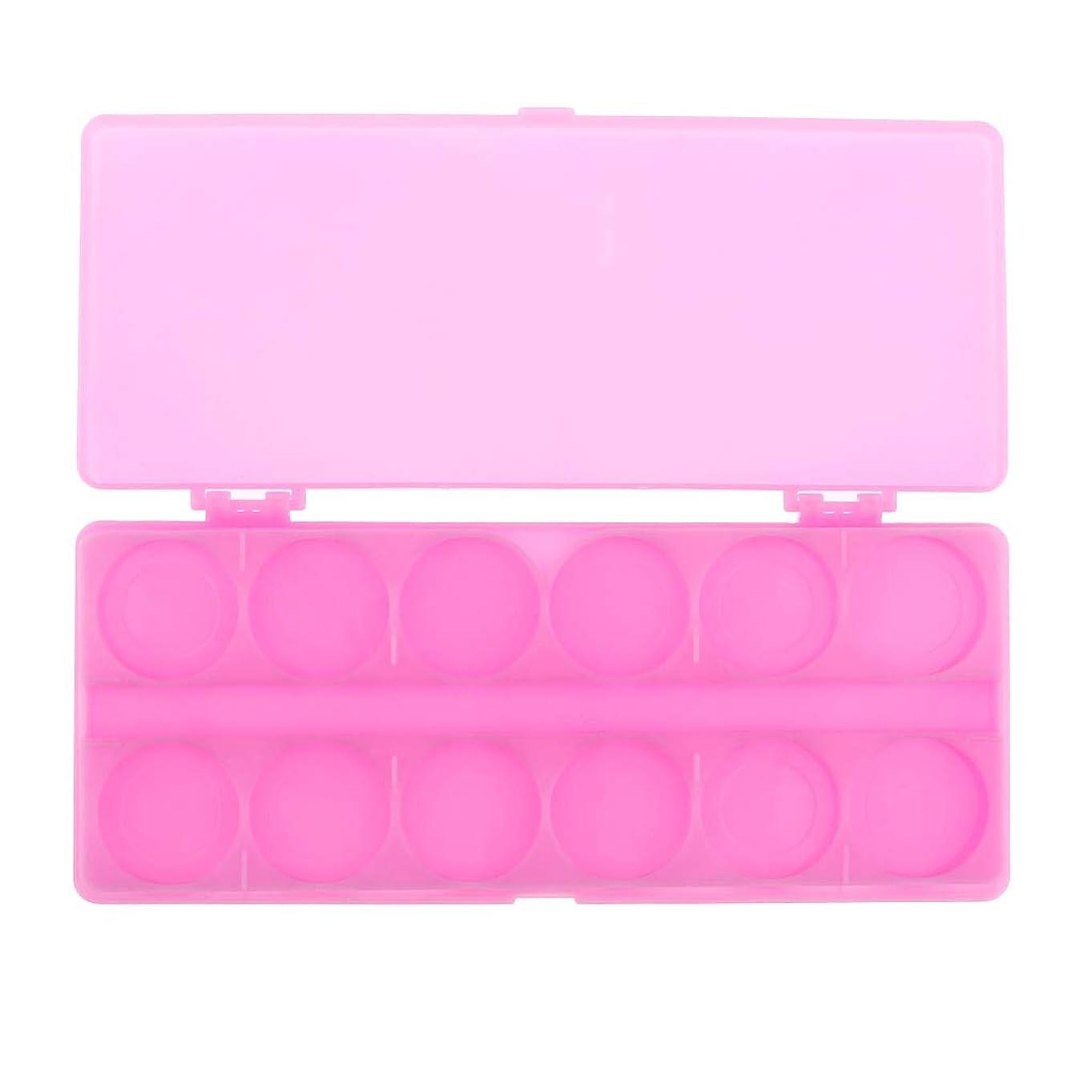 エイリアス豚示すSharplace 水彩画/ガッシュ/アクリルオイルペイント用 ネイルアート 化粧品 混合パレット 顔料パレット 全3色 - ピンク