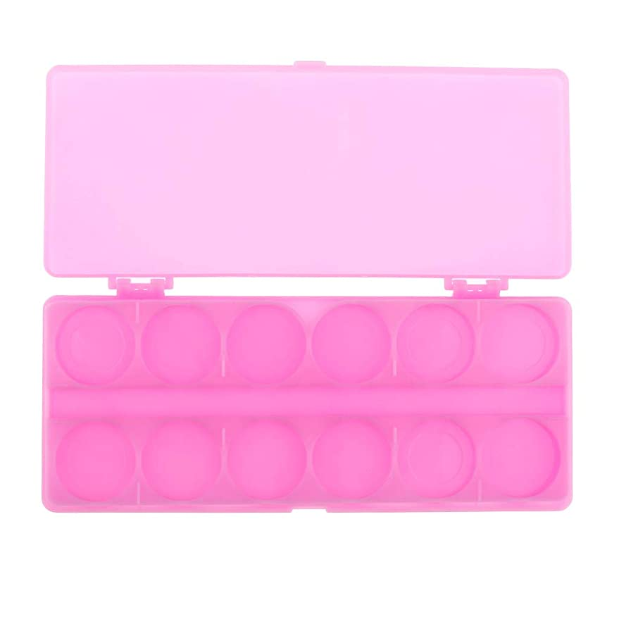 困ったソーダ水高めるSharplace 水彩画/ガッシュ/アクリルオイルペイント用 ネイルアート 化粧品 混合パレット 顔料パレット 全3色 - ピンク