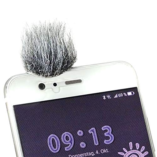 keepdrum WS06 Micro-Fell-Windschutz für Smartphone Handy Tablet Digitalkamera 10 Stück