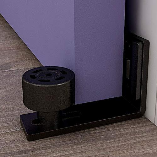 CCJH Guía de suelo para puerta corredera, guía de suelo ajustable, guía de rodillo para puerta montada en la pared, accesorios para herrajes de puerta corredera.