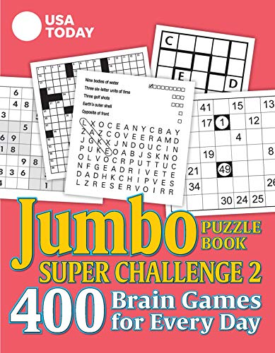 USA TODAY Jumbo Puzzle Book Super Challenge 2: 400 Brain Games for Every Day (Volume 30) (USA Today Puzzles)