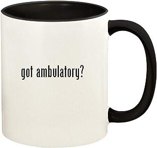 got ambulatory? - 11oz Ceramic Colored Handle and Inside Coffee Mug Cup, Black