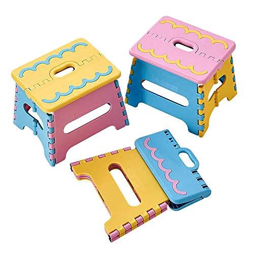 Omenluck 1 silla plegable pequeña de plástico taburete plegable para niños y uso doméstico