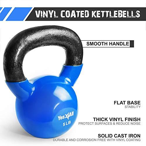 Yes4All Single Vinyl Coated Kettlebell