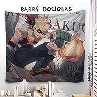 Barry Douglas タペストリー 僕のヒーローアカデミア ヒロアカ 爆豪勝己 大判壁掛け ポスター アニメの絵 漫画 壁掛け 壁飾り 背景布け 装飾布 装飾用品 多機能 HD 軽量 カスタム可能 100 x 100cm