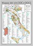 Italy DOC and DOCG Wines Wall Map - English and Italian - 28' x 39' Matte Plastic