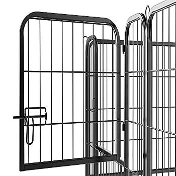 Yaheetech 8 Panneaux Parc pour Chiens Enclos en métal pour Chiot Rongeur Lapin avec Porte 80 cm de Hauteur