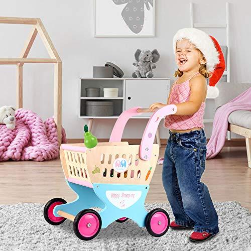 Arkmiido Andador bebé Carrito premeros Carrito de Compra Correpasillos Bebé, Base Antivuelco, Juguetes educativos, con 4 Ruedas, para Mayor Que 3 años