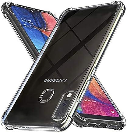 Ferilinso Funda para Samsung Galaxy A20E,[Reforzar la versión con Cuatro Esquinas][Funda Protectora de la cámara] Funda Protectora de Silicona de Piel de Goma TPU a Prueba de Goma Suave(Transparente)