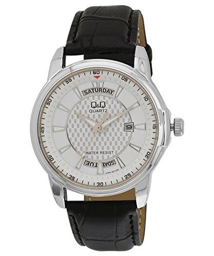 Q&Q Reloj analógico para hombre estándar con fecha y día A184J301Y