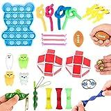 colmanda Juguetes sensoriales, 28 Pcs Kit de Juguetes Sensoriales, Kit de Juguetes Antiestrés Juguetes Sensoriales antiestres, Set de Juguetes Sensoriales para Niños y Adultos (28 Pcs,B)