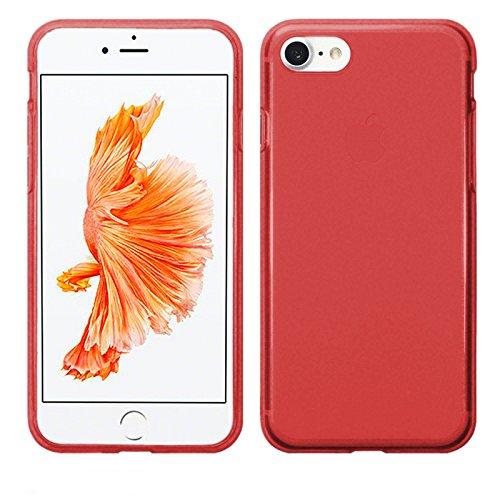 TBOC Funda de Gel TPU Roja para Apple iPhone 7 - iPhone 8 - iPhone SE (2020) (4.7 Pulgadas) de Silicona Ultrafina y Flexible