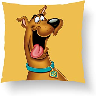 Zippered Pillow Covers Pillowcases 18x18 Inch Scooby Doo Airbrush Pose 15 Pillow Cases Cushion Cover for Home Sofa Bedding
