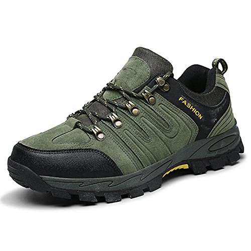 Fnho Zapatillas Deportivas para Correr,Zapatos Deportivos para Correr,Zapatos de Senderismo al Aire Libre, Zapatos de Senderismo para Hombres-Verde Militar_43