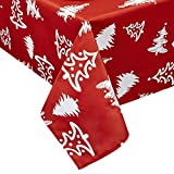 Obstal Rectangle Christmas Table Cloth, Oil-Proof Spill-Proof and Water Resistance Tablecloth,...