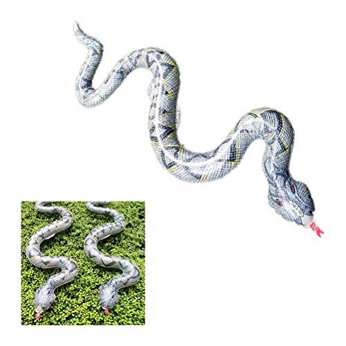 TOYANDONA 1pc Mini vbora Modelo de Horror simulado travesura Serpiente Juguete Serpiente Modelo de Disfraz Fiesta de los Inocentes Halloween