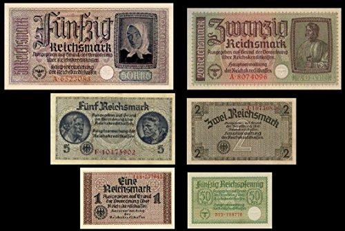 *** 0,5, 1, 2, 5, 20, 50 Reichsmark, Reichskreditkasse, 1939 - 1945 - Reproduktion ***