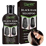 Farb Shampooo Schwarz, Färbendes Shampoo, Shampoo Fettiges Haar, Schwarzes Haar Shampoo, Black Hair Shampoo, Permanent Schwarzes Haar Ingwer Färbende Kräuter Verbessern das Follikelwurzelwachstum