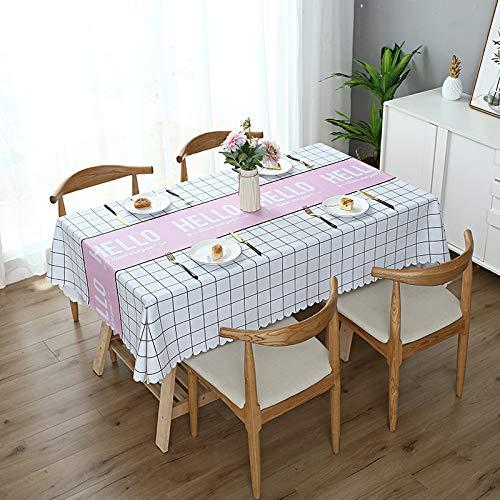 xurupeng PVC tischdecke wasserdicht, ölbeständig, brühschutz tischdecke, Nordic couchtisch Tuch tischdecke