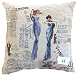Tache Home Fashion Girls Just Want to Have Fun Jacquard Tapestry Throw Pillow Cover, 18 x 18, Purple